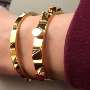 NWT~ Gorgeous Pyramid Rockstud bangle bracelets